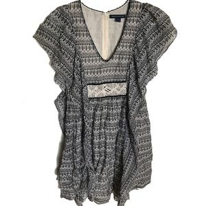 French Connection Boho Summer Dress Size 0